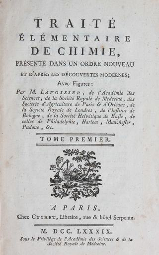 Lavoisier's Revolutionary Textbook