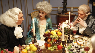 Priestley and Lavoisier at dinner.